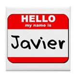 Hello my name is Javier Tile Coaster