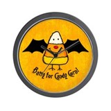 Batty For Candy Corn Wall Clock