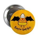 "Batty For Candy Corn 2.25"" Button"