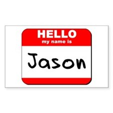 Hello my name is Jason Rectangle Decal