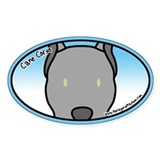 Anime Gray Cane Corso Oval Decal