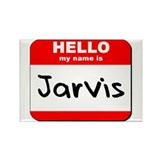 Hello my name is Jarvis Rectangle Magnet