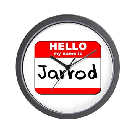 Hello my name is Jarrod Wall Clock
