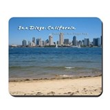 "San Diego, ""Beautiful San Diego Bay"" Mousepad"