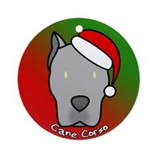 Cartoon Gray Cane Corso Christmas Ornament