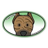 Anime Presa Canario Oval Decal