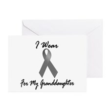 I Wear Grey For My Granddaughter 1 Greeting Cards