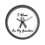 I Wear Grey For My Grandson 1 Wall Clock