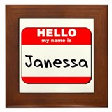 Hello my name is Janessa Framed Tile