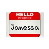 Hello my name is Janessa Rectangle Magnet (10 pack