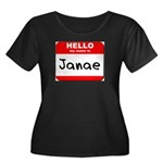 Hello my name is Janae Women's Plus Size Scoop Nec