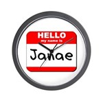 Hello my name is Janae Wall Clock