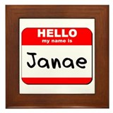 Hello my name is Janae Framed Tile