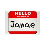 Hello my name is Janae Rectangle Magnet