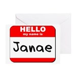 Hello my name is Janae Greeting Card