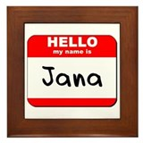 Hello my name is Jana Framed Tile