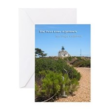 Old Point Loma Lighthouse Greeting Card