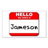 Hello my name is Jameson Rectangle Decal