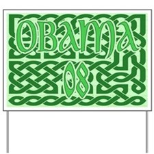 Obama Celtic Knotwork Yard Sign