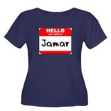 Hello my name is Jamar Women's Plus Size Scoop Nec