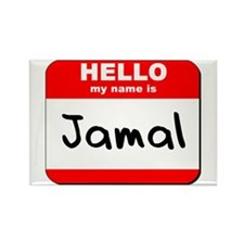 Hello my name is Jamal Rectangle Magnet