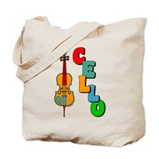 Colorful Cello Tote Bag