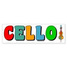 Colorful Cello Bumper Bumper Sticker