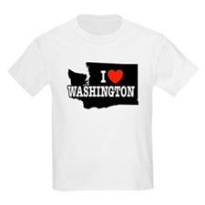 I Love Washington Kids T-Shirt
