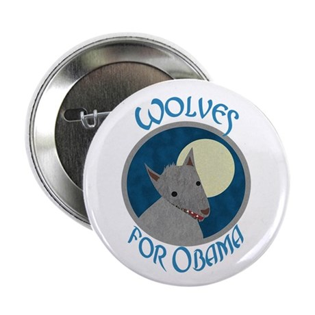"Wolves for Obama 2.25"" Button (100 pack)"