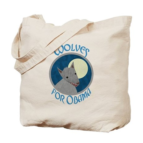 Wolves for Obama Tote Bag