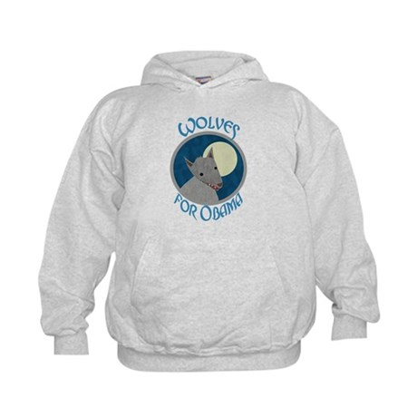 Wolves for Obama Kids Hoodie