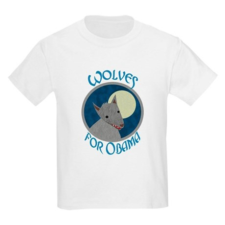 Wolves for Obama Kids Light T-Shirt