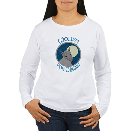 Wolves for Obama Women's Long Sleeve T-Shirt