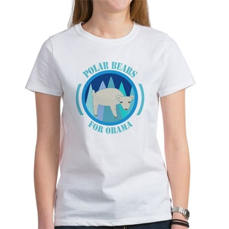 Polar Bears for Obama Women's T-Shirt