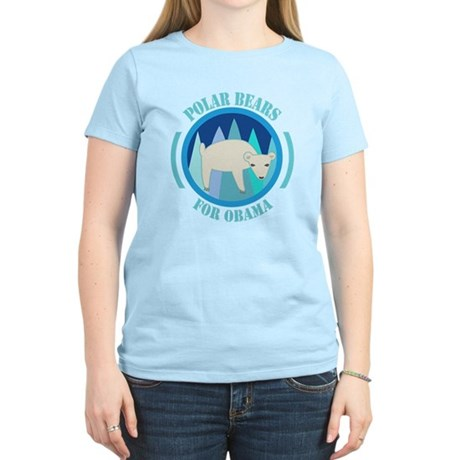 Polar Bears for Obama Women's Light T-Shirt