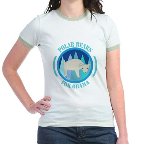 Polar Bears for Obama Jr. Ringer T-Shirt