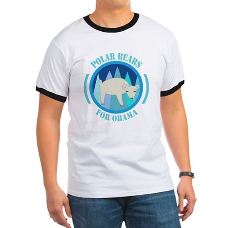 Polar Bears for Obama Ringer T