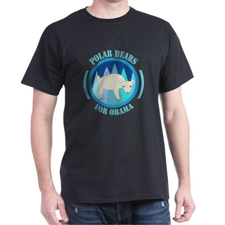 Polar Bears for Obama Dark T-Shirt