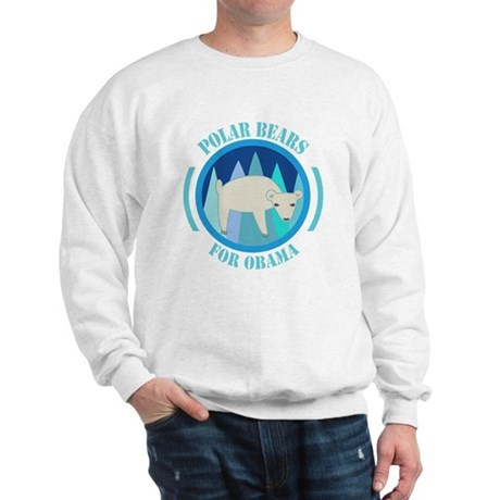 Polar Bears for Obama Sweatshirt