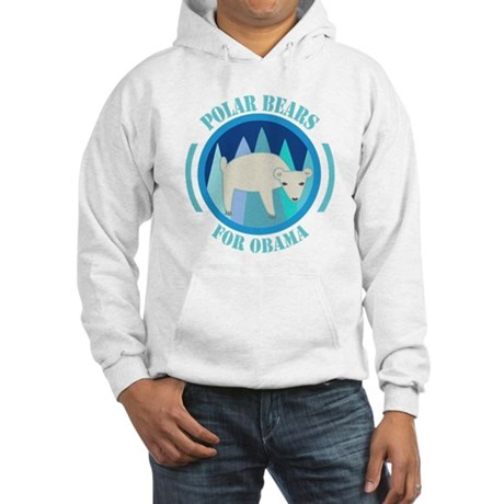 Polar Bears for Obama Hooded Sweatshirt