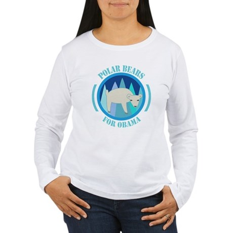 Polar Bears for Obama Women's Long Sleeve T-Shirt