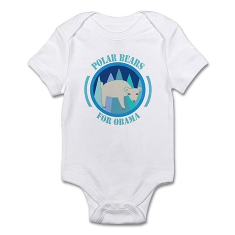 Polar Bears for Obama Infant Bodysuit