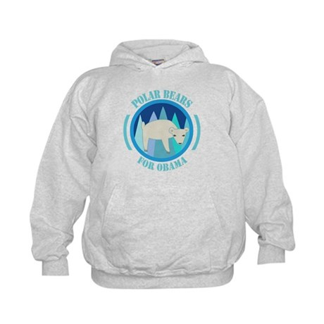 Polar Bears for Obama Kids Hoodie