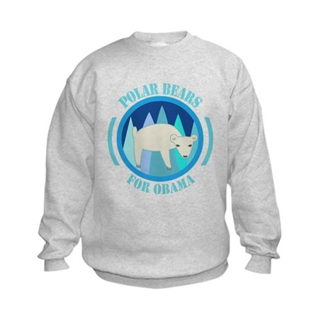 Polar Bears for Obama Kids Sweatshirt