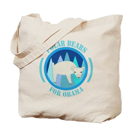 Polar Bears for Obama Tote Bag