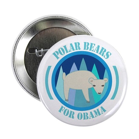 "Polar Bears for Obama 2.25"" Button (10 pack)"