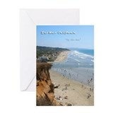 Del Mar City Beach Greeting Card