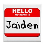 Hello my name is Jaiden Tile Coaster