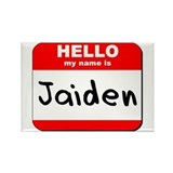 Hello my name is Jaiden Rectangle Magnet