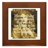 Morris Motto Framed Tile